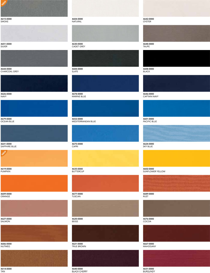 color chart for awning colors