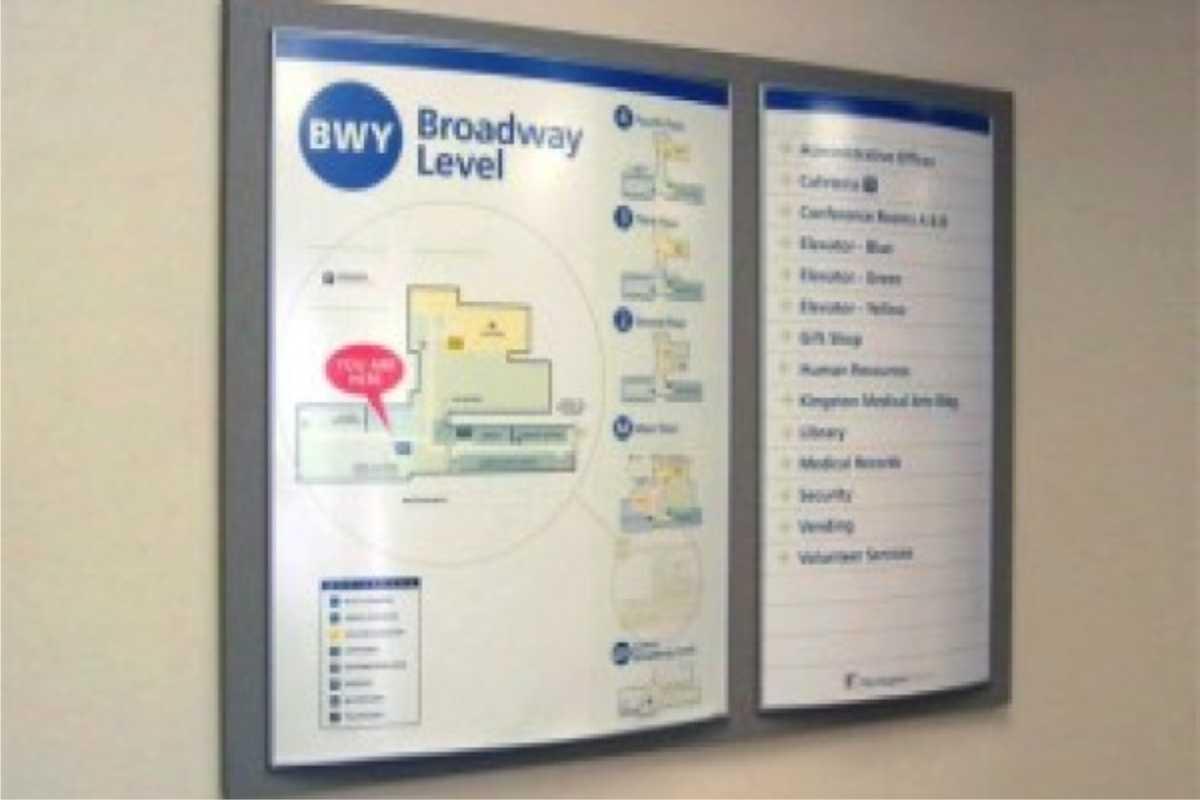 subway directory sign