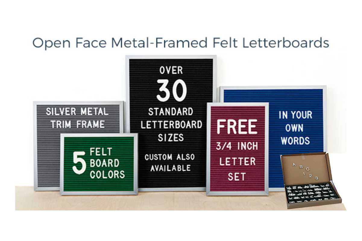 Changeable signs/ letterboards