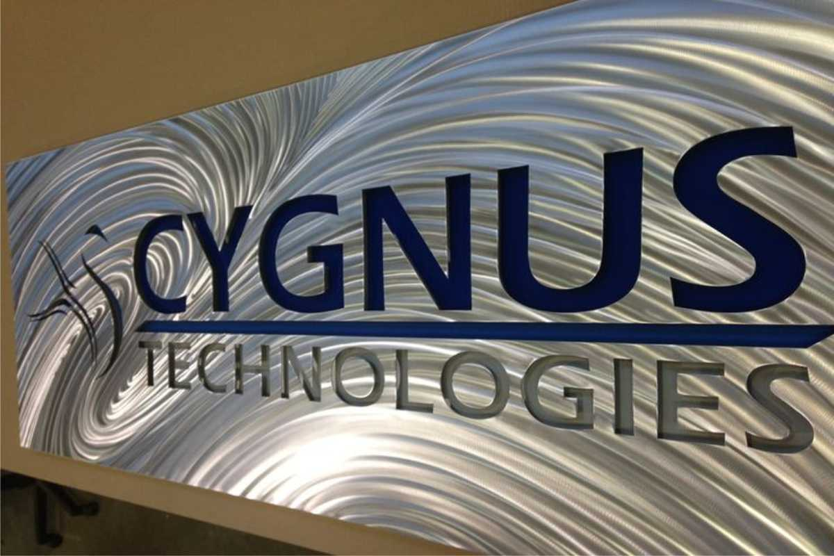 Acrylic office sign example for