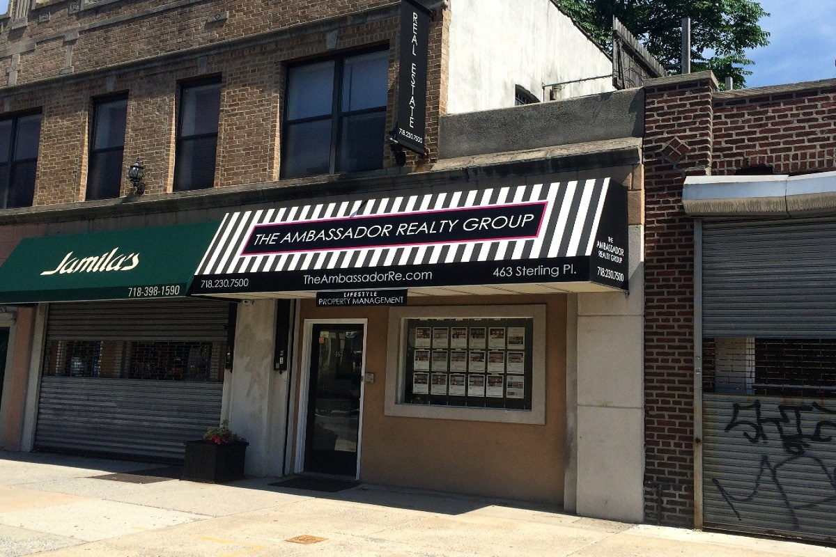 Stationary Awning for the Ambassador Realty Group