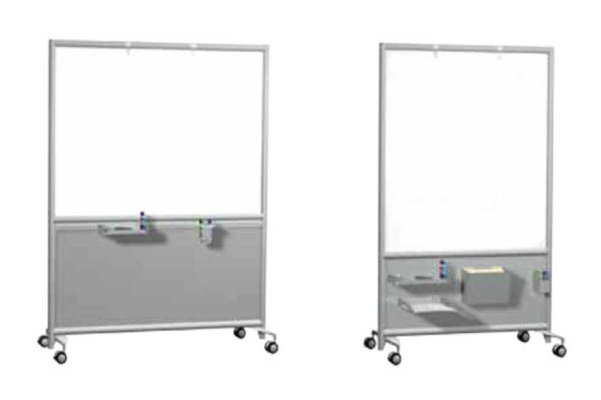 Whiteboards with wheels