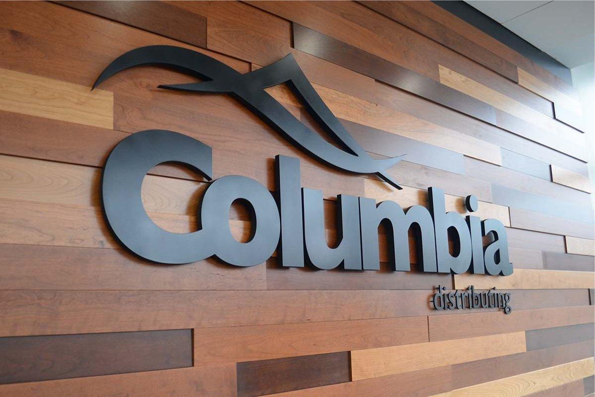 Wall Sign Columbia Distributing