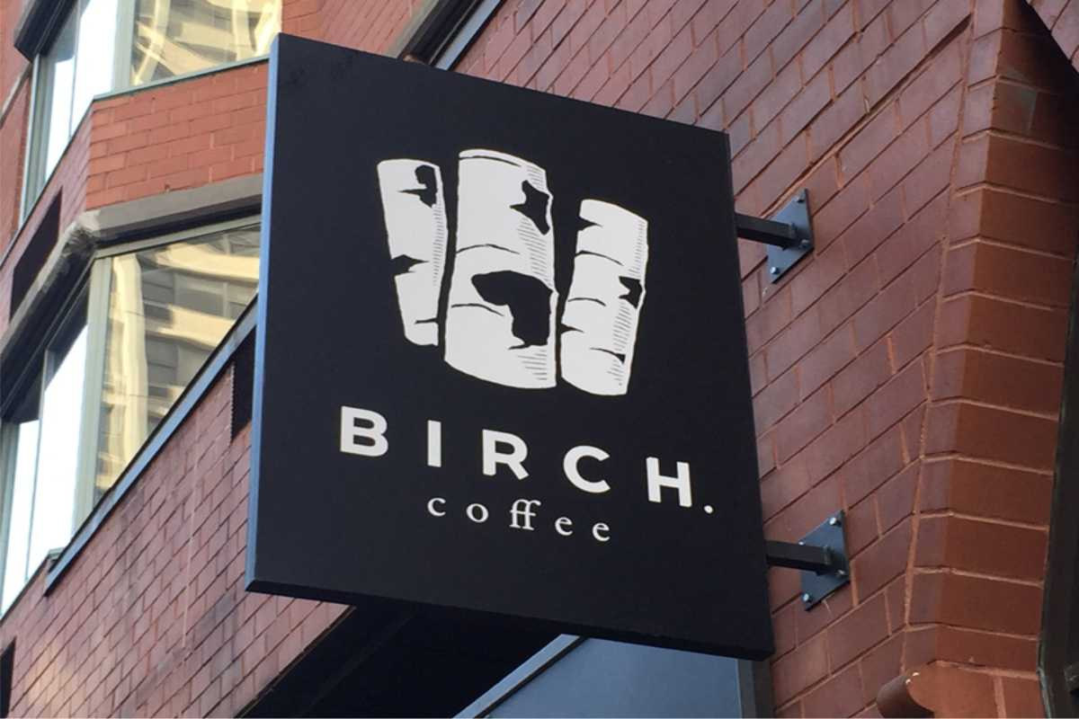 Sign for Birch Coffee