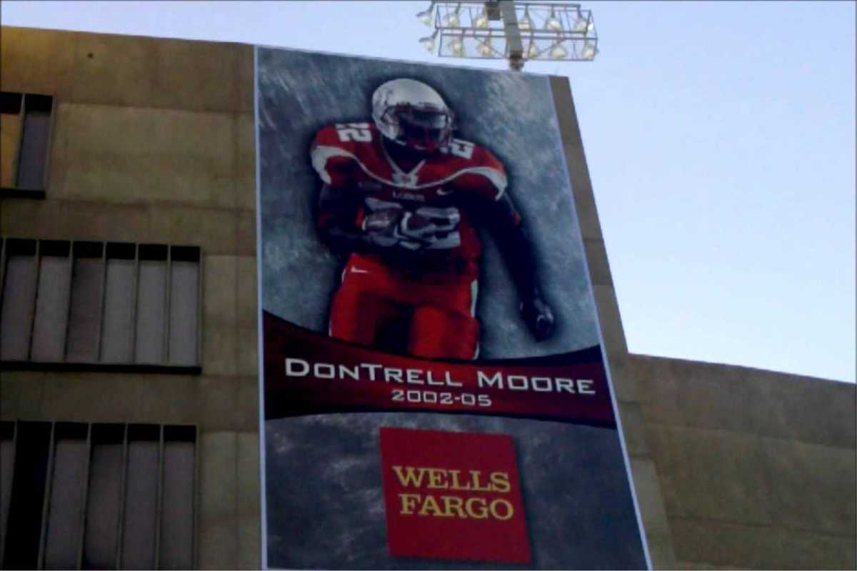 Large Wall sign featuring Dontrell Moore 2002-05 Wells Fargo